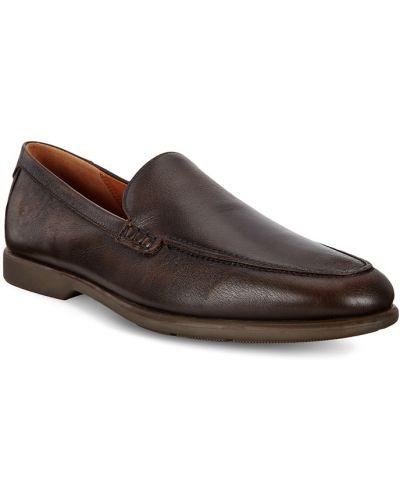 Коричневые кожаные туфли Ecco