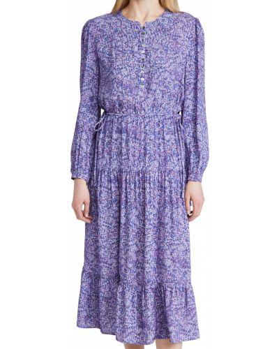 Платье макси с длинными рукавами - сиреневое Rebecca Minkoff