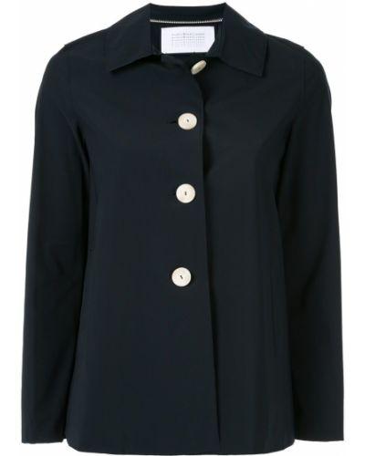 Синяя куртка с воротником с карманами Harris Wharf London
