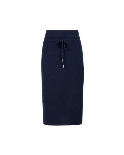 Синяя юбка миди Max & Moi