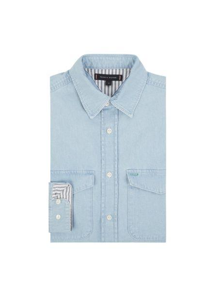 Koszula z długim rękawem dżinsowa długa Tommy Hilfiger