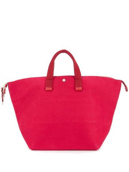 Красная сумка среднего размера Cabas