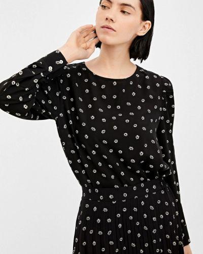 Блузка с длинным рукавом весенний черная Springfield