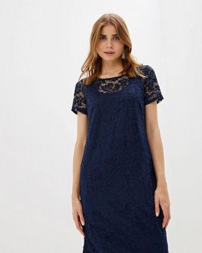 Вечернее платье весеннее синее Iwie