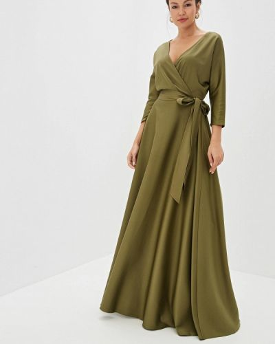 Вечернее платье зеленый хаки Mazal