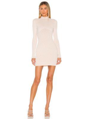Biała sukienka prążkowana Nbd