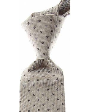 Brązowy krawat z jedwabiu Isaia