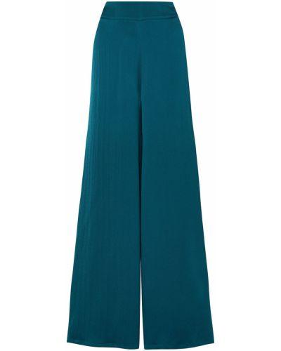 Niebieskie spodnie z jedwabiu Safiyaa