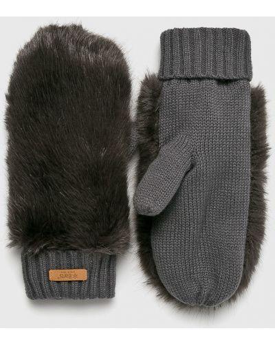 Серые перчатки текстильные Barts
