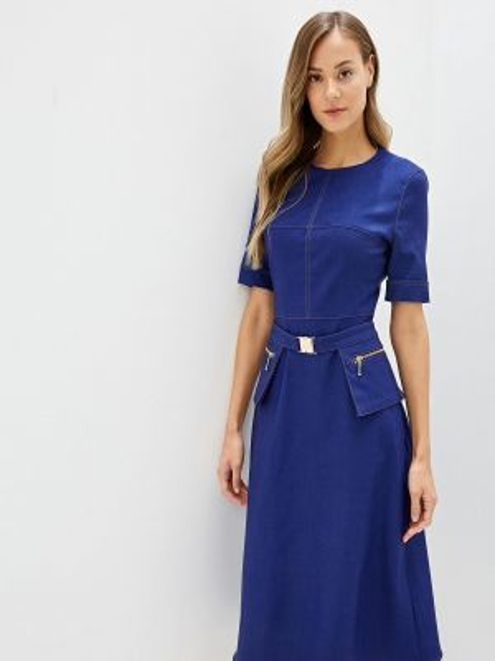 Джинсовое платье осеннее синее Ruxara