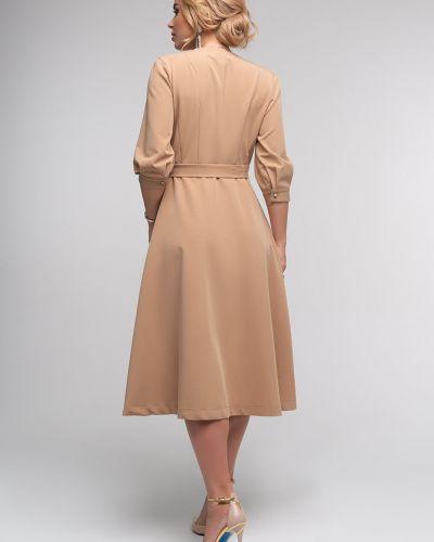 Приталенное с рукавами платье с запахом Петербургский Швейный Дом