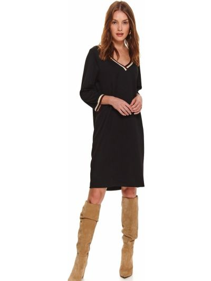 Sukienka z długimi rękawami - czarna Top Secret
