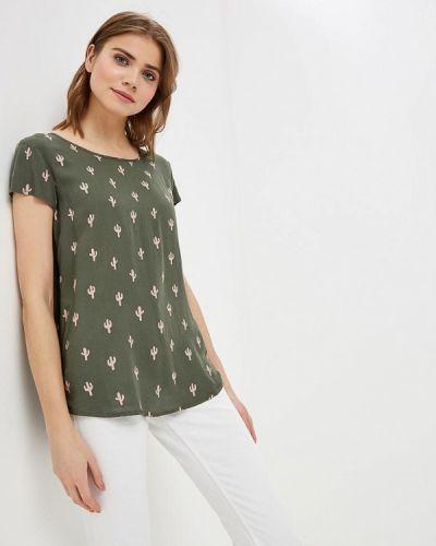 Блузка с коротким рукавом зеленый индийский Jacqueline De Yong