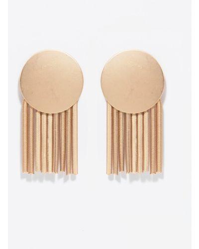 Золотые серьги золотой универсальный Parfois