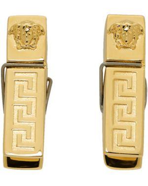 Kolczyki ze złota metal Versace