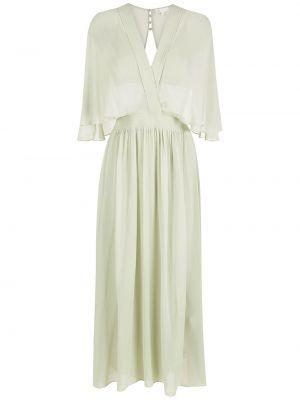 Зеленое платье с вырезом НК