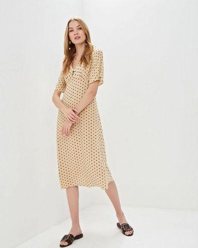 Платье платье-комбинация бежевое Nastasia Sabio