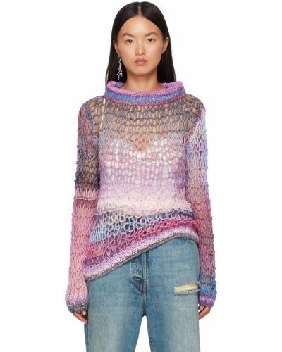 Розовый свитер длинный Anna Sui