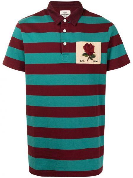 Koszula krótki rękaw bawełniana w paski Kent & Curwen