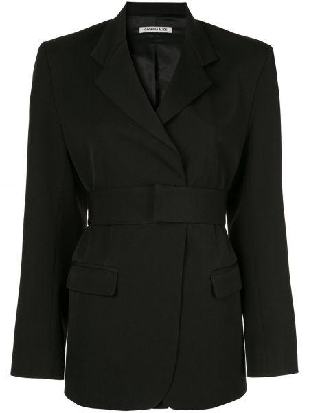 Черный приталенный пиджак на пуговицах Georgia Alice