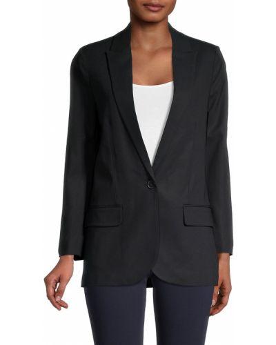 Черный удлиненный пиджак с подкладкой с длинными рукавами Zadig & Voltaire