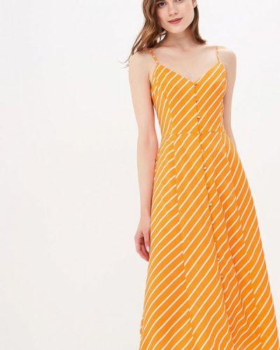 Оранжевый сарафан Warehouse