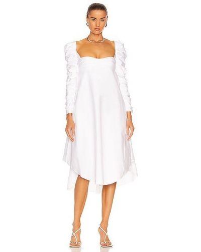Белое платье на молнии Khaite