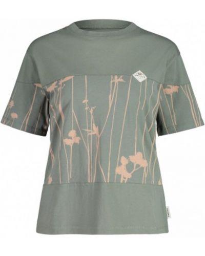 Zielony t-shirt Maloja