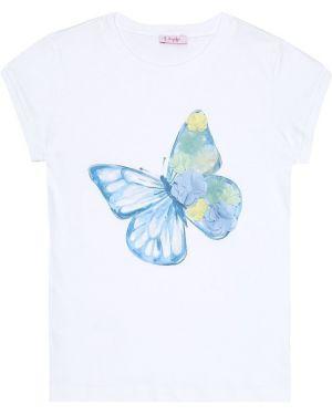 T-shirt chudy z kwiatowym nadrukiem Il Gufo