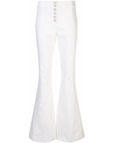 Białe jeansy z wysokim stanem bawełniane Cinq A Sept