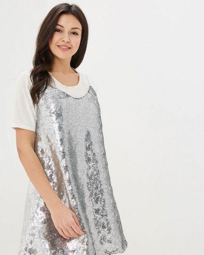 Коктейльное платье серебряный Ruxara