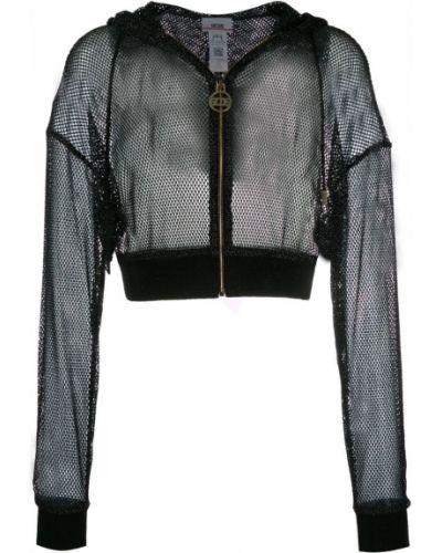 Черная короткая куртка свободного кроя Gcds