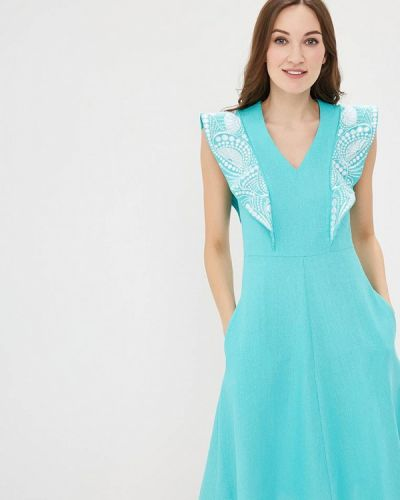 Бирюзовое платье Indiano Natural