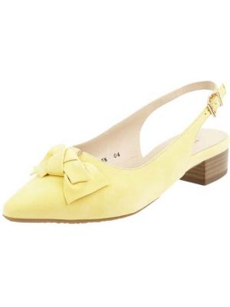Balerinki skórzane - żółte Peter Kaiser