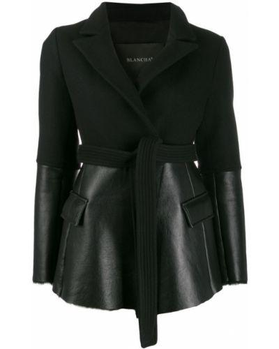 Черная длинная куртка Blancha