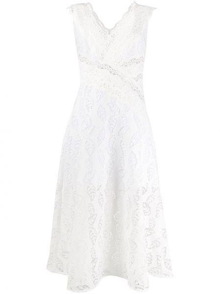 Платье миди ажурное с V-образным вырезом Sandro Paris