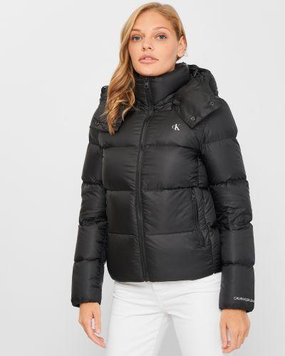 Джинсовая куртка короткая - черная Calvin Klein Jeans