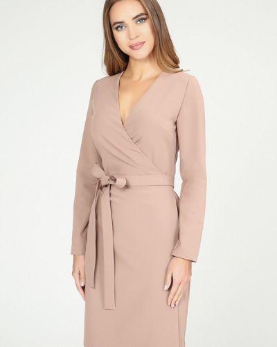 Платье осеннее бежевое Kotis Couture