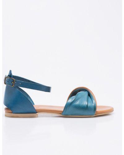 Синие сандалии кожаный Gino Rossi
