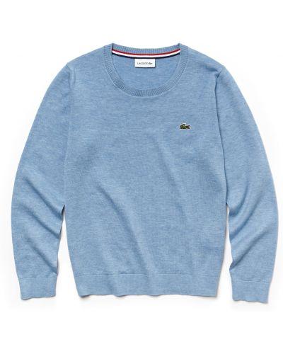 Голубой свитер хлопковый Lacoste