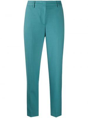 Синие шерстяные зауженные брюки с карманами Paul Smith