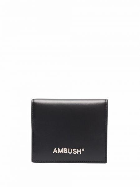 Czarny portfel srebrny Ambush
