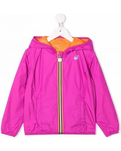 Klasyczny płaszcz przeciwdeszczowy z kapturem z długimi rękawami K Way Kids