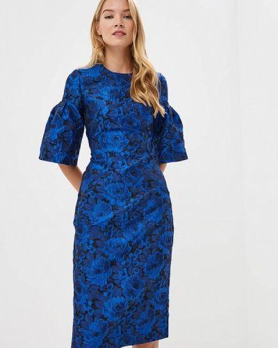 Вечернее платье осеннее синее Madam T
