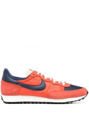 Niebieskie tenisówki koronkowe zamszowe Nike