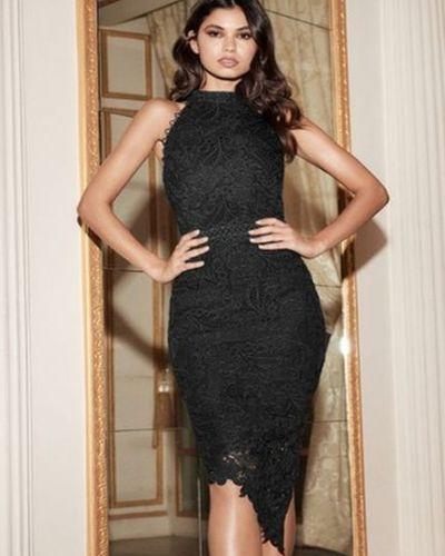 Облегающее платье - черное Lipsy