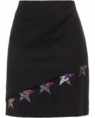 Czarna spódnica z haftem Love Moschino