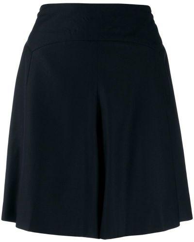 Черные короткие шорты с карманами на пуговицах Chanel Pre-owned