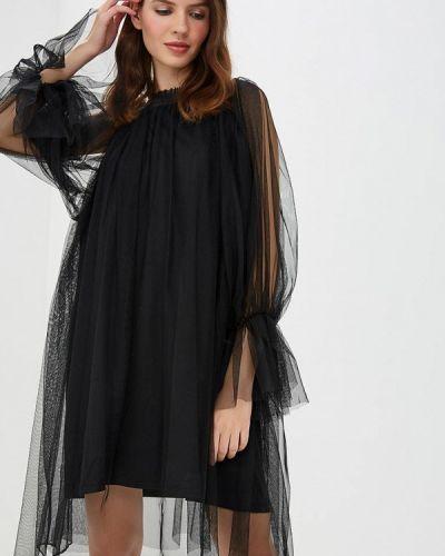 Платье с открытыми плечами осеннее Danity