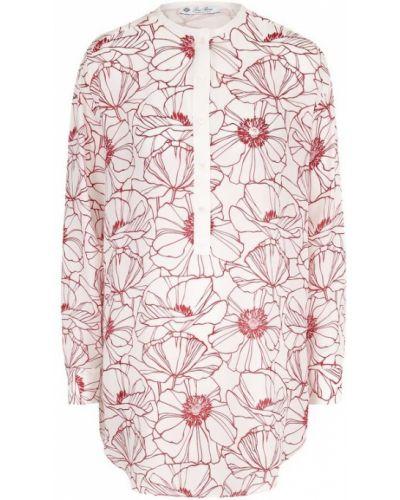 Красная блузка шелковая Loro Piana